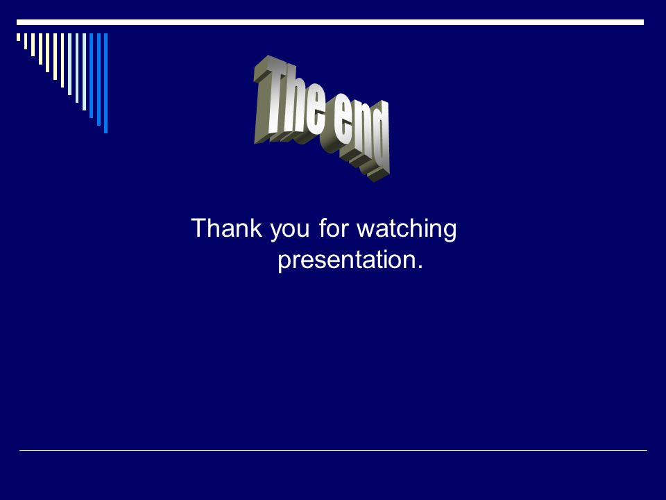 Thank you for watching presentation.
