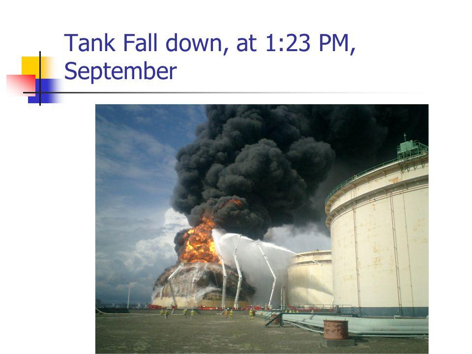 Tank Fall down, at 1:23 PM, September