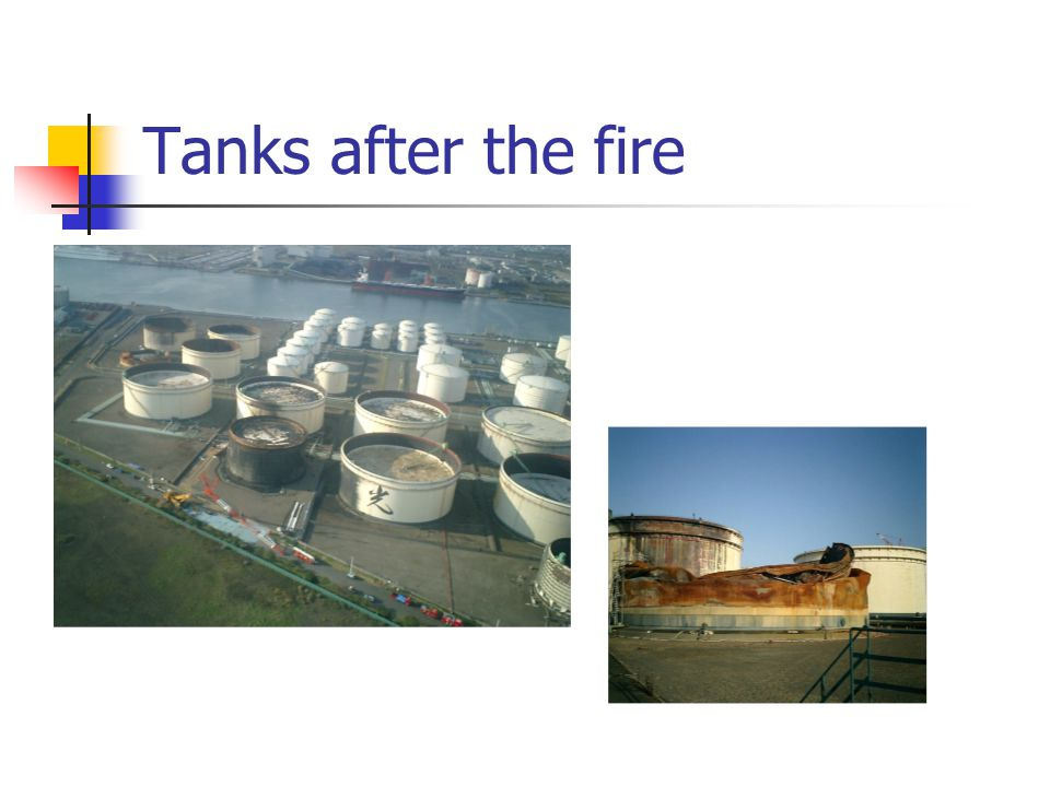 Tanks after the fire