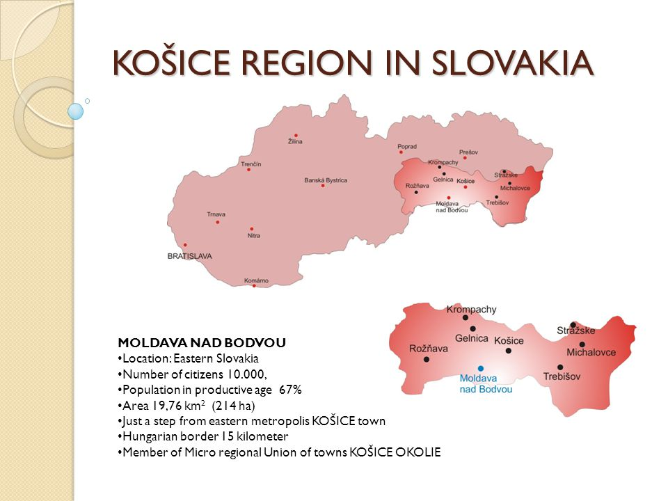 SUSTAINABLE ENERGY IN KOŠICE REGION Recent situation in town Moldava nad Bodvou List of present boiler houses:  Boiler House K3 power capacity 5,1 MW, fuel Natural Gas - Kogeneration unit 0,15 MWe 0,23 MWt  Boiler House K4 power capacity 8,5 MW, fuel Natural Gas  Boiler House K7 power capacity 4,0 MW, fuel Natural Gas Supplied heat year 2007:  Production of heat 76.000, GJ  Central heating 48.300, GJ  Hot using water preparation 21.700, GJ  Production of electricity power 1.067, MWh