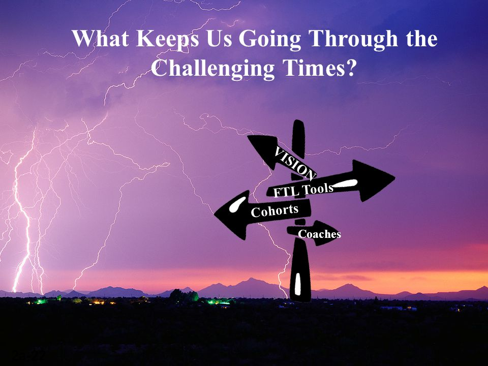 Cohorts FTL Tools VISION Coaches What Keeps Us Going Through the Challenging Times? 2a-22