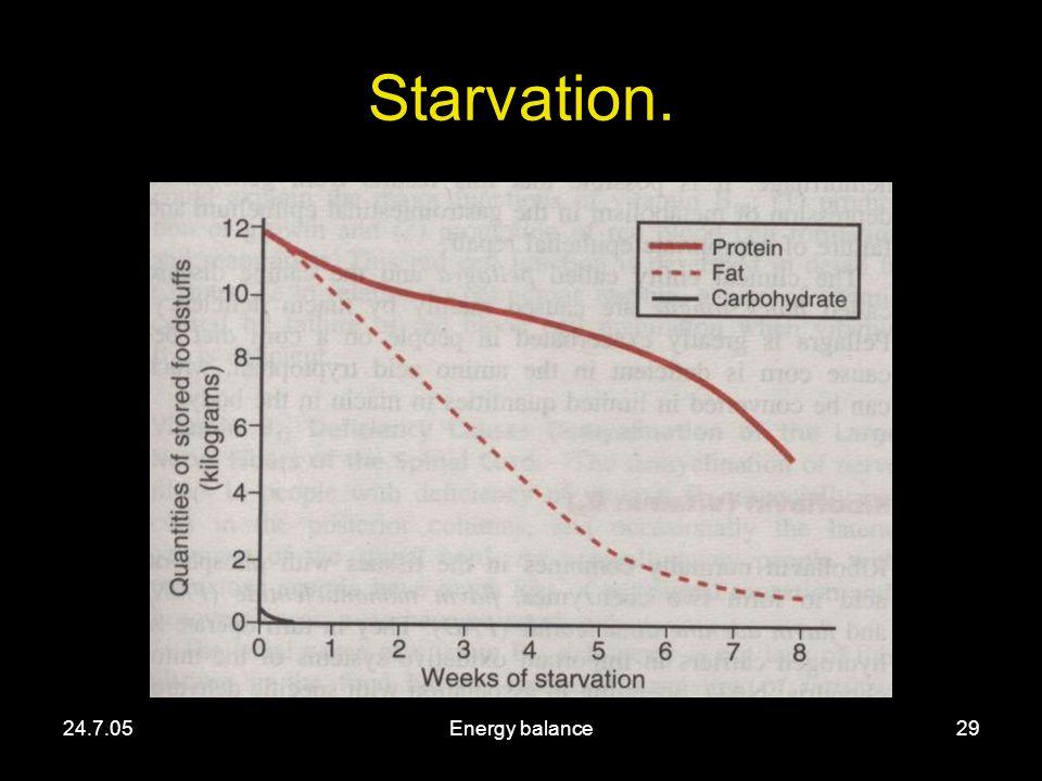 24.7.05Energy balance29 Starvation.