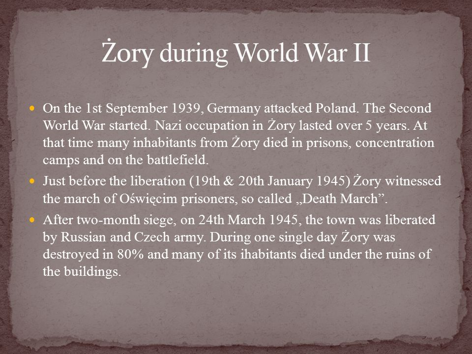On the 1st September 1939, Germany attacked Poland.