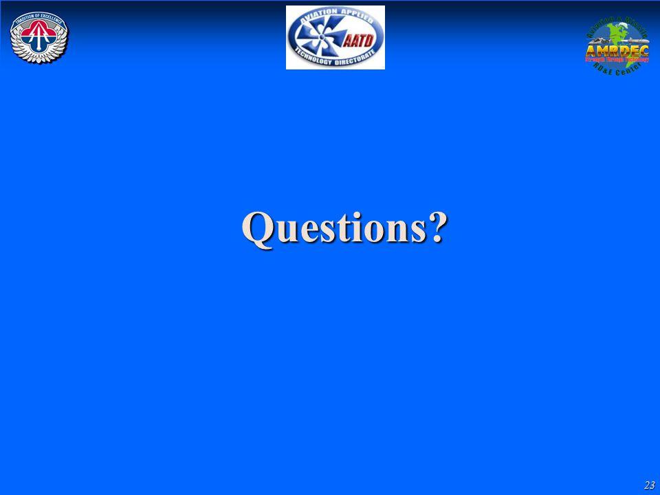 23 Questions?