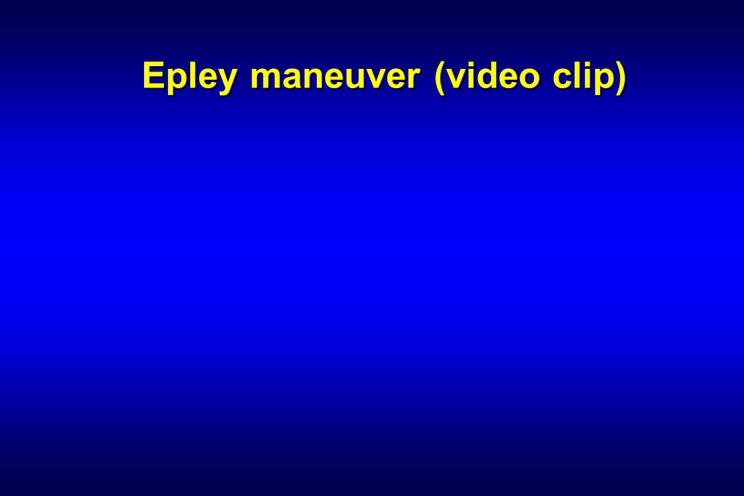 Epley maneuver (video clip)
