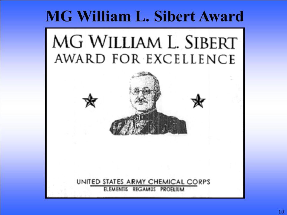 10 MG William L. Sibert Award