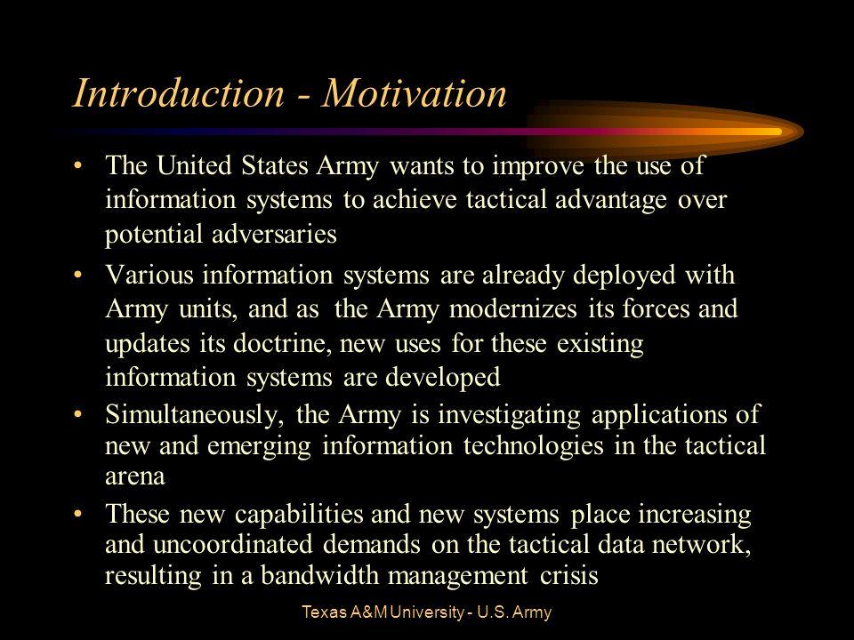 Texas A&M University - U.S.Army Introduction - Collaboration Force XXI –The U.S.