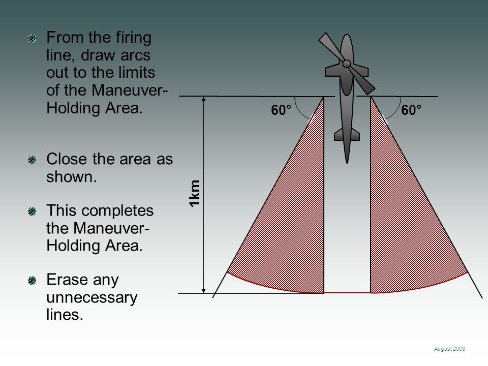 August 2003 From the firing line, draw arcs out to the limits of the Maneuver- Holding Area.