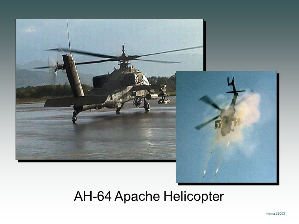 August 2003 AH-64 Apache Helicopter