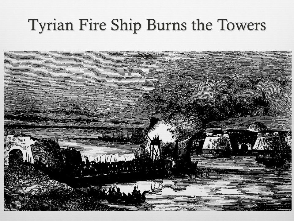 Tyre  Alexander collected a fleet of over 200 ships and maneuvered them into moorings off the Sidonian and Egyptian harbors  Blockaded the Tyrian fleet in its harbors and now was at liberty to use his siege engines to reduce the city ' s walls Composition of Alexander's Fleet No.