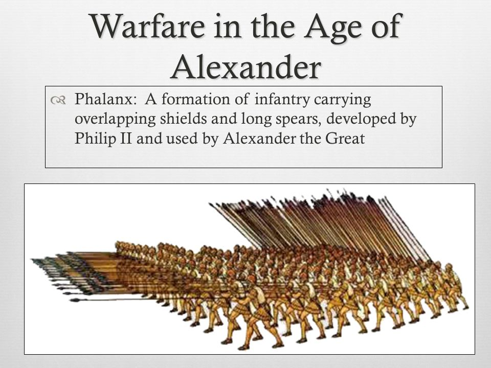 Warfare in the Age of Alexander  Hoplite  The main melee warrior of the Macedonian army.