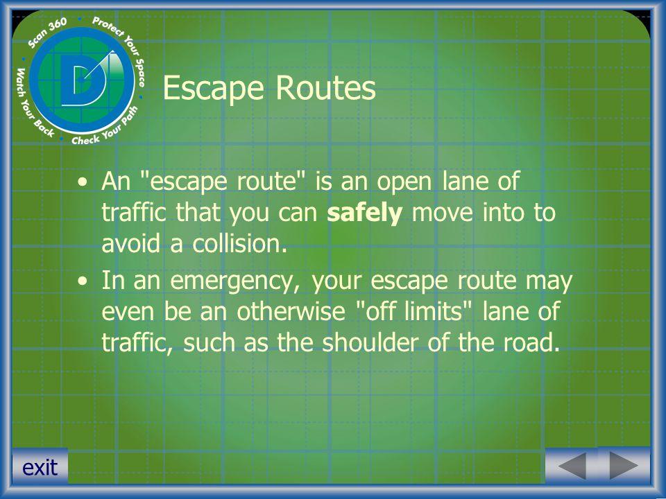 exit Escape Routes An