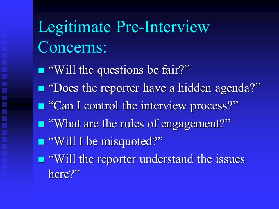 Step One: Define/ Refine the Issue n Attempt to Determine the Reporter's Agenda by Asking Questions: u Reporter's name & affiliation.