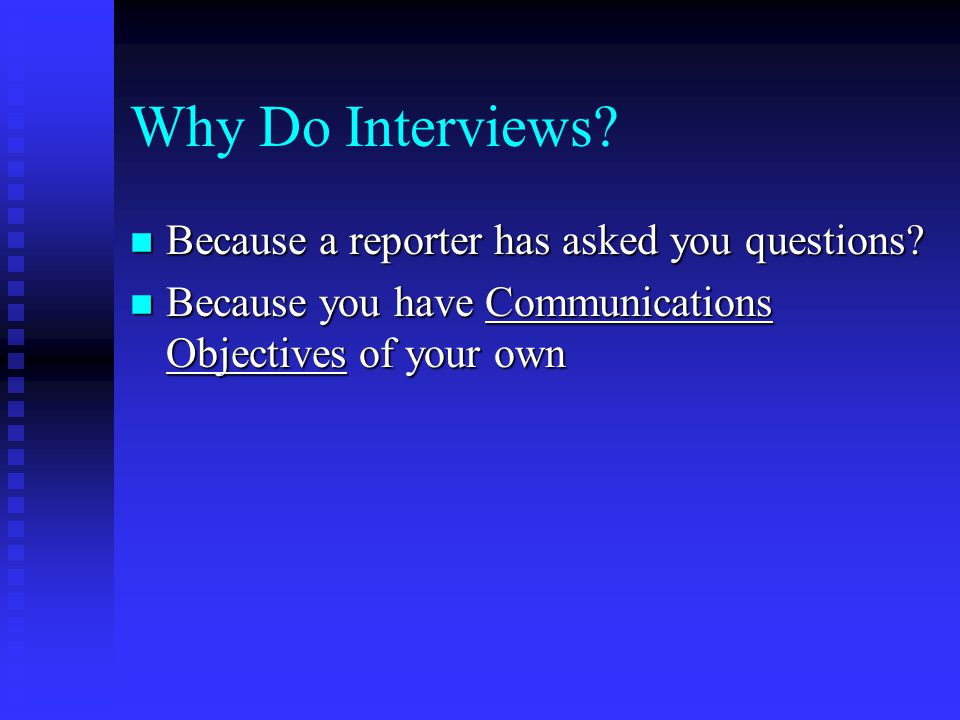 Remember, This Process is About CONTROL n Control of the media to the extent you can.