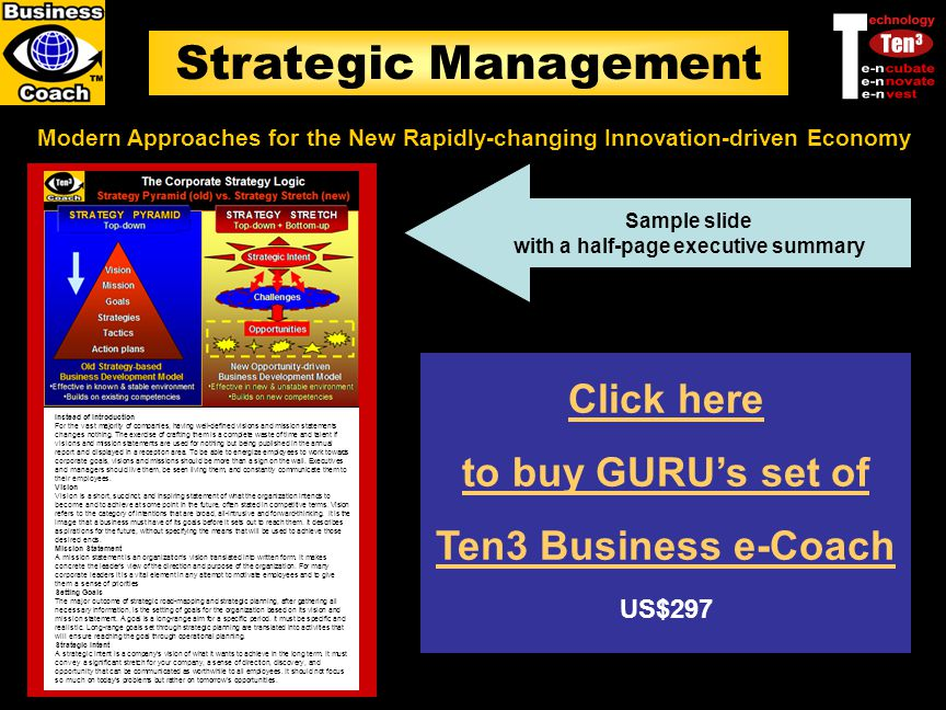 Strategic Management Modern Approaches for the New Rapidly-changing Innovation-driven Economy Instead of Introduction For the vast majority of compani