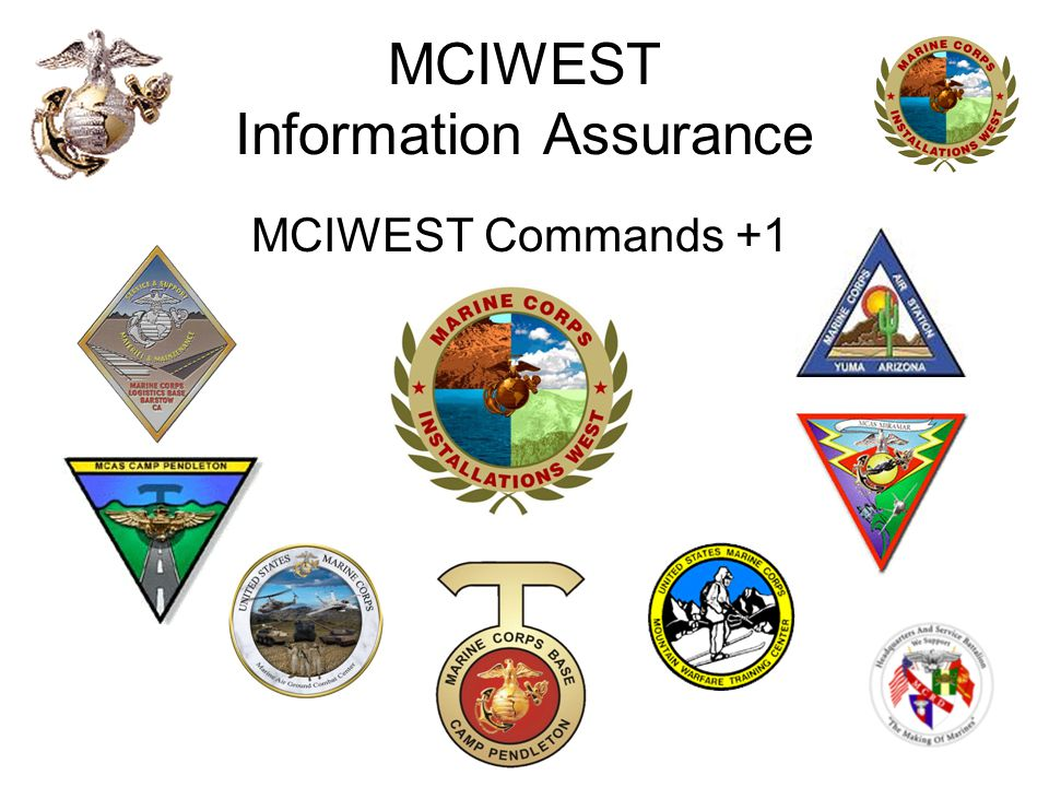 MCIWEST Information Assurance MCIWEST Commands +1