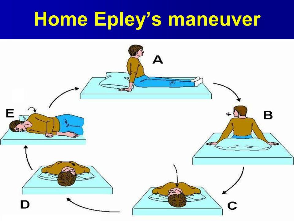 Home Epley's maneuver