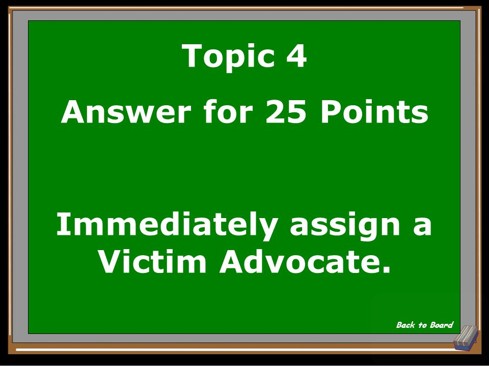 Topic 4 Question for 25 Points What is the actions of the SARC upon notification of a reported sexual assault? Show Answer