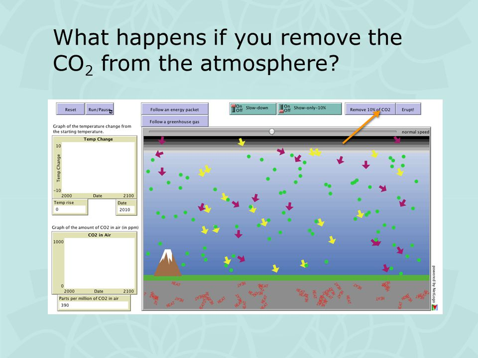 What happens if you remove the CO 2 from the atmosphere