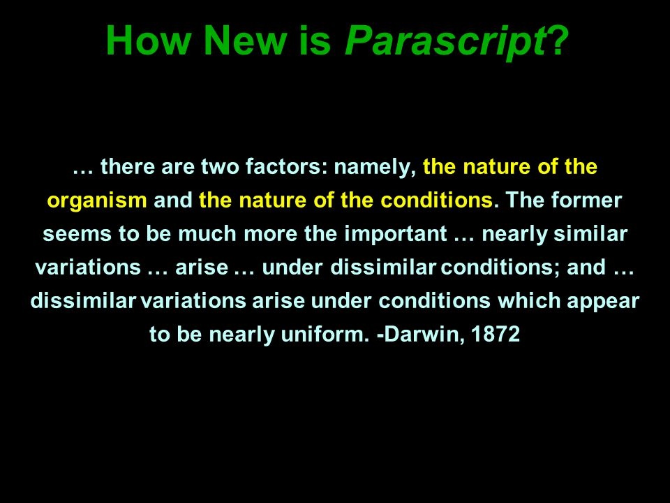 How New is Parascript.