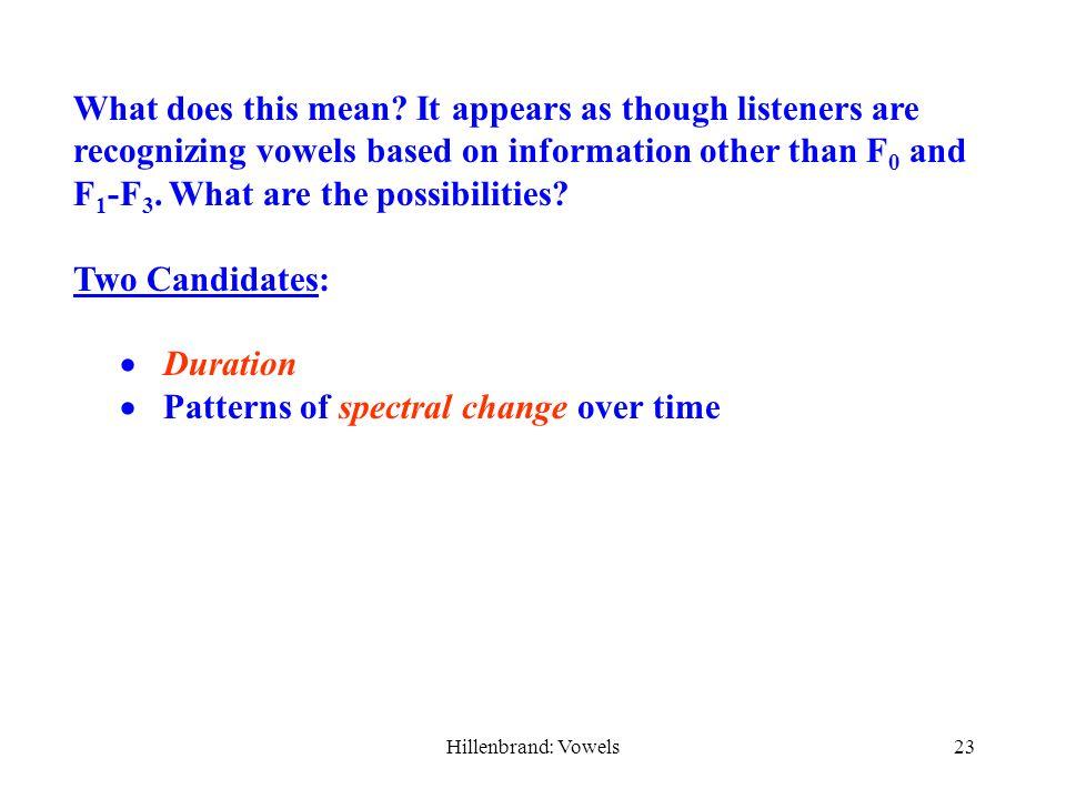 Hillenbrand: Vowels22