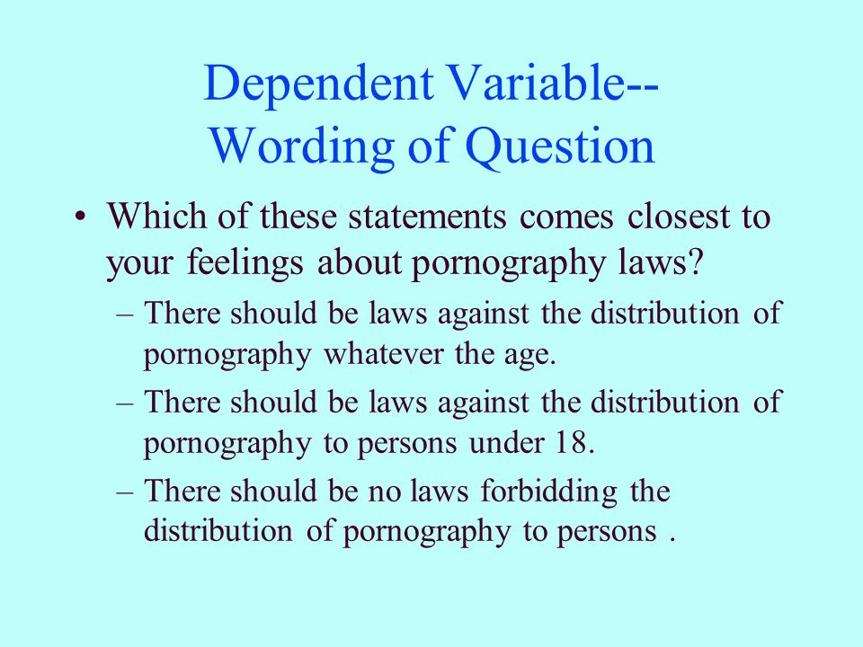 Dependent Variable-- Frequencies