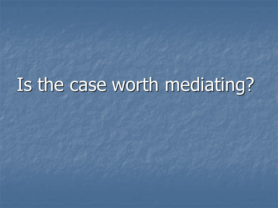 What are the alternative measures to mediation? What are the alternative measures to mediation?