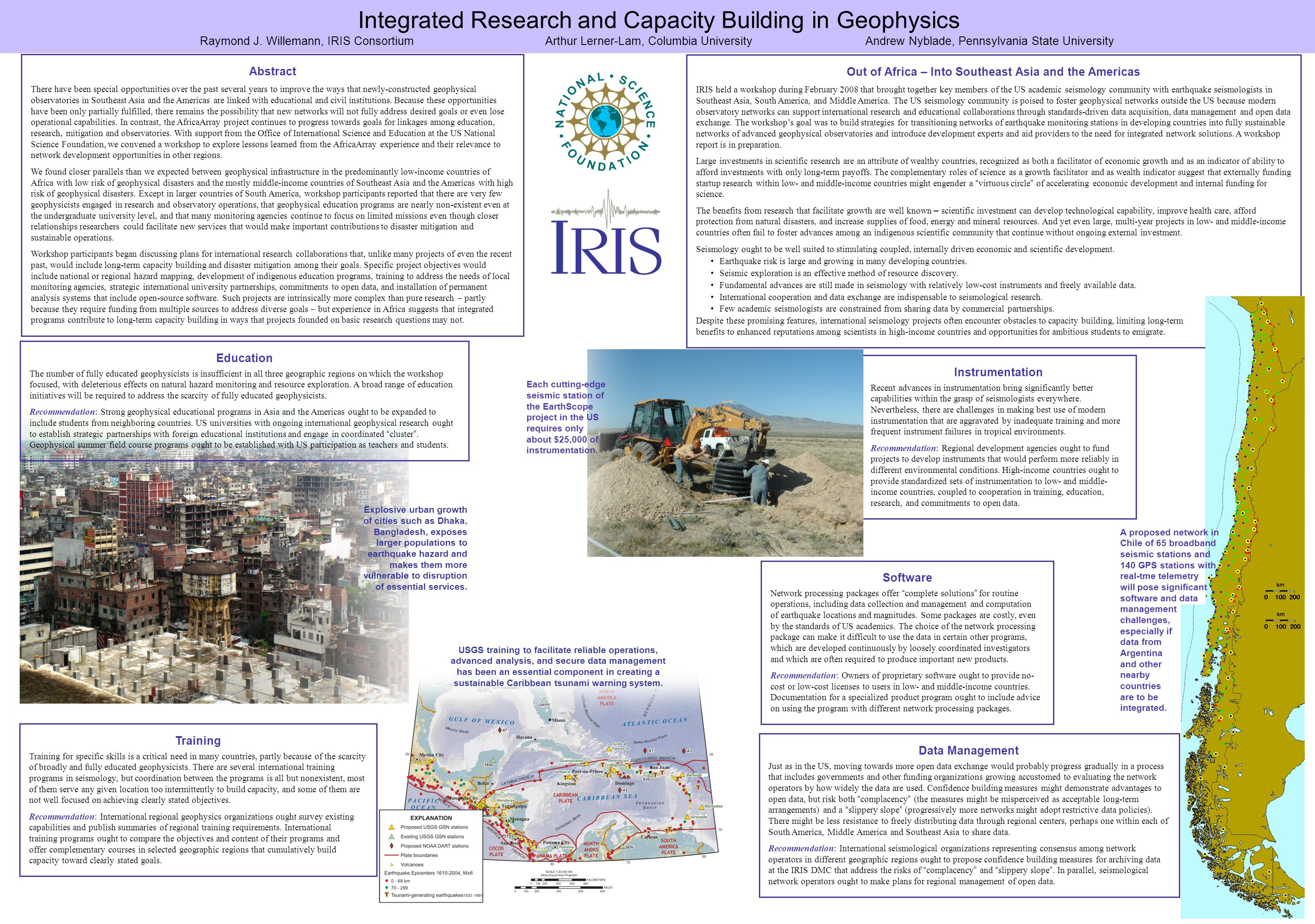 Integrated Research and Capacity Building in Geophysics Raymond J.