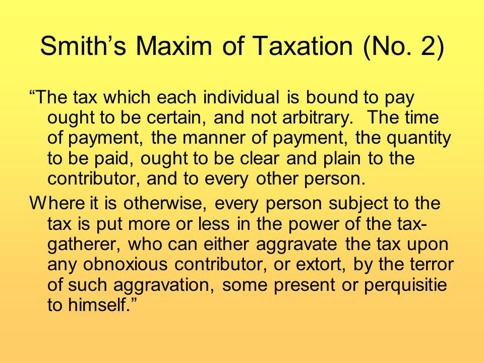 Tax Efficiency and Tax Burden, Con't.