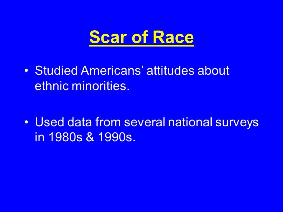 Survey Scales A-S: Anti-Semitism E:Ethnocentrism PEC:Political & Economic Conservatism F:potential for Fascism A-S, E & PEC measure manifest attitudes F measures latent personality organization