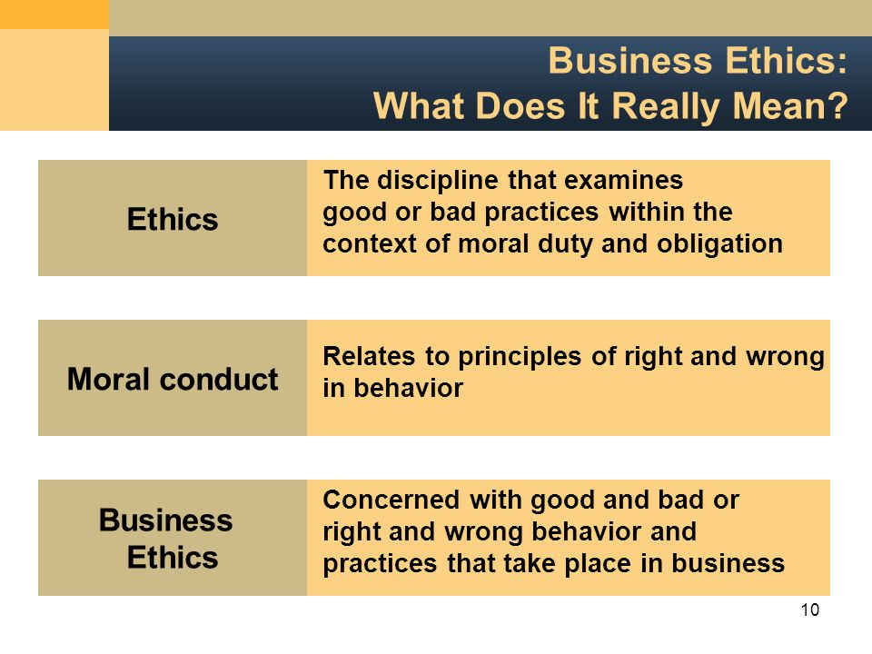 10 Business Ethics: What Does It Really Mean.