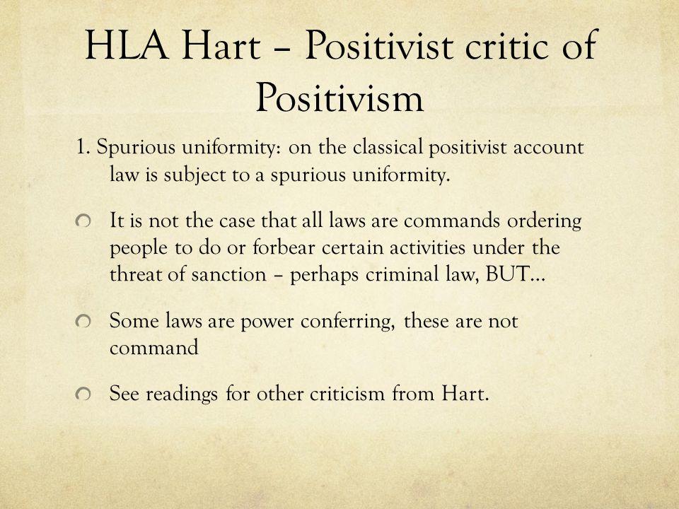 HLA Hart – Positivist critic of Positivism 1.