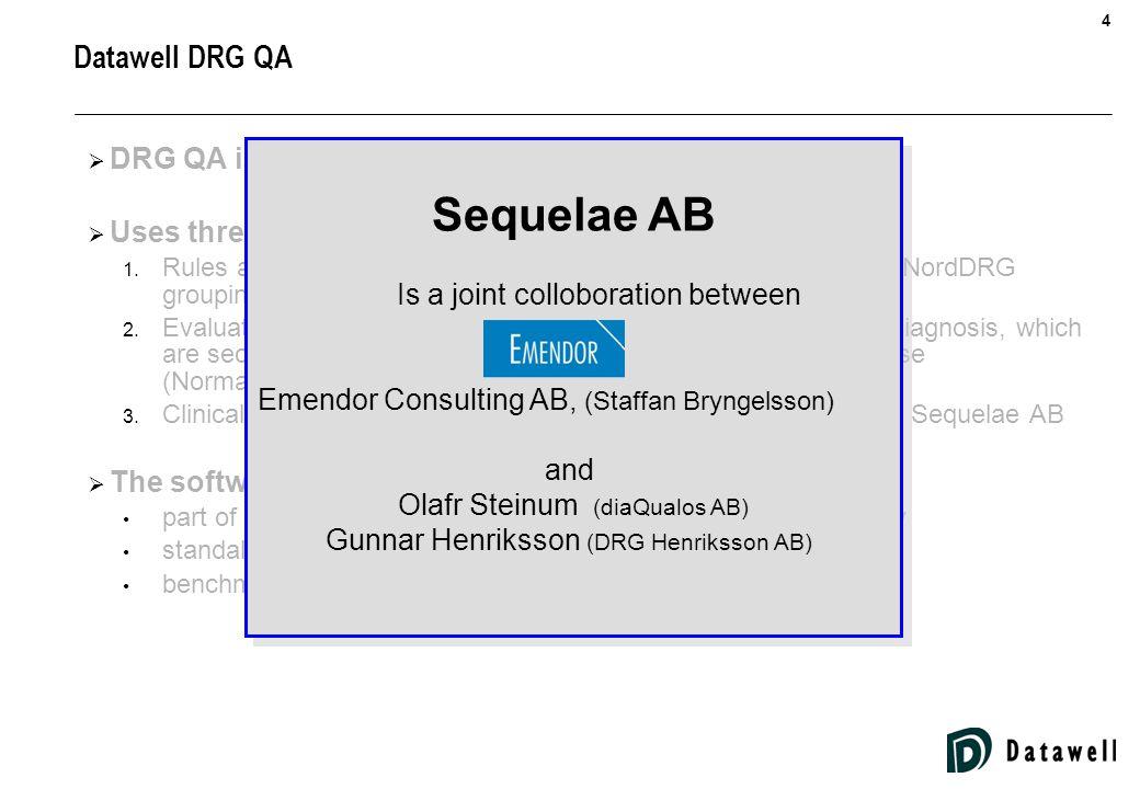 5 Datawell DRG QA  DRG QA is a Datawell product  Uses three different logics for data quality evaluation 1.