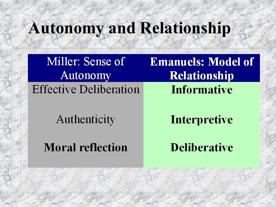Autonomy and Relationship