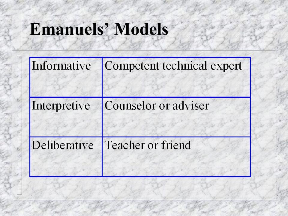Emanuels' Models