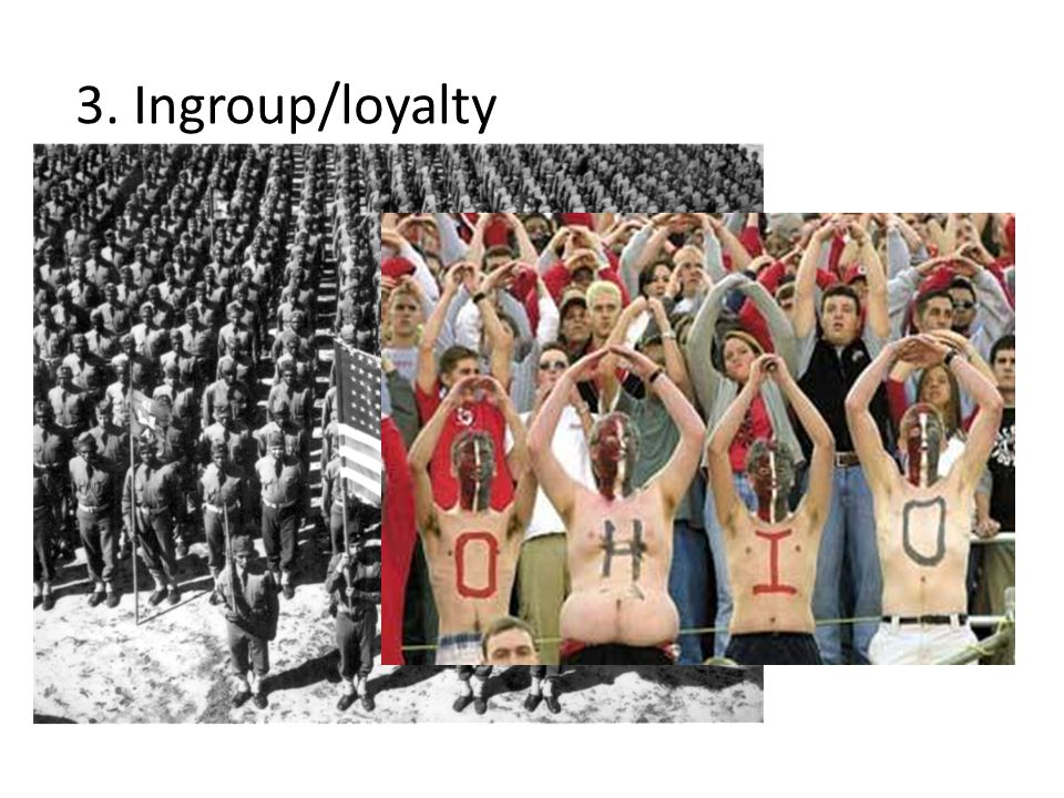 3. Ingroup/loyalty