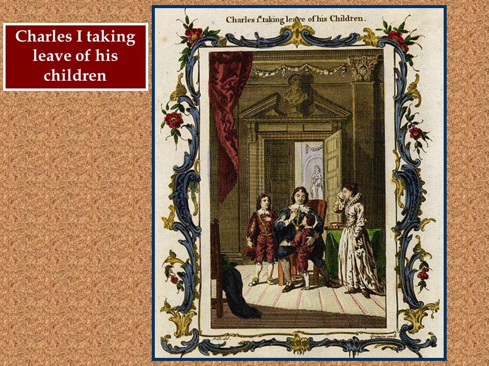 Charles I taking leave of his children