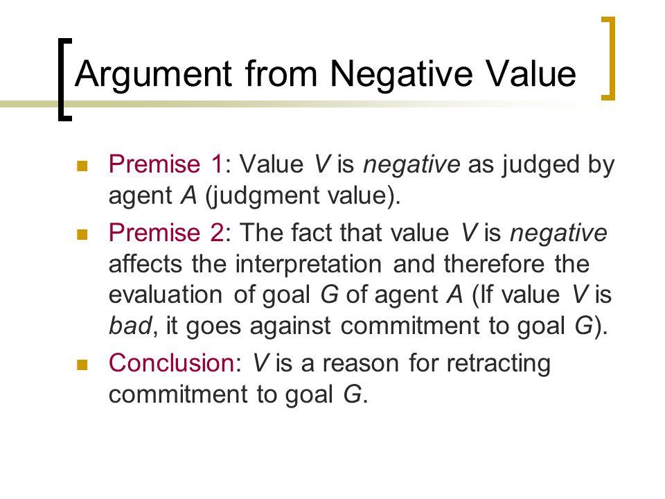 Value-Based Practical Reasoning Premise 1: I have a goal G.