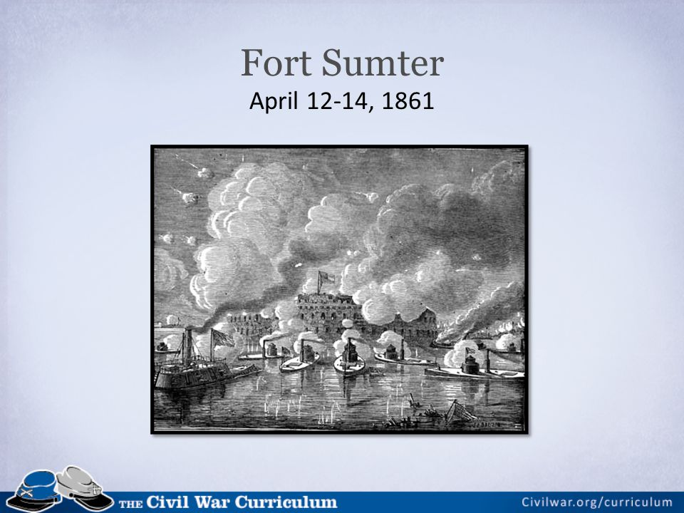 Fort Sumter April 12-14, 1861
