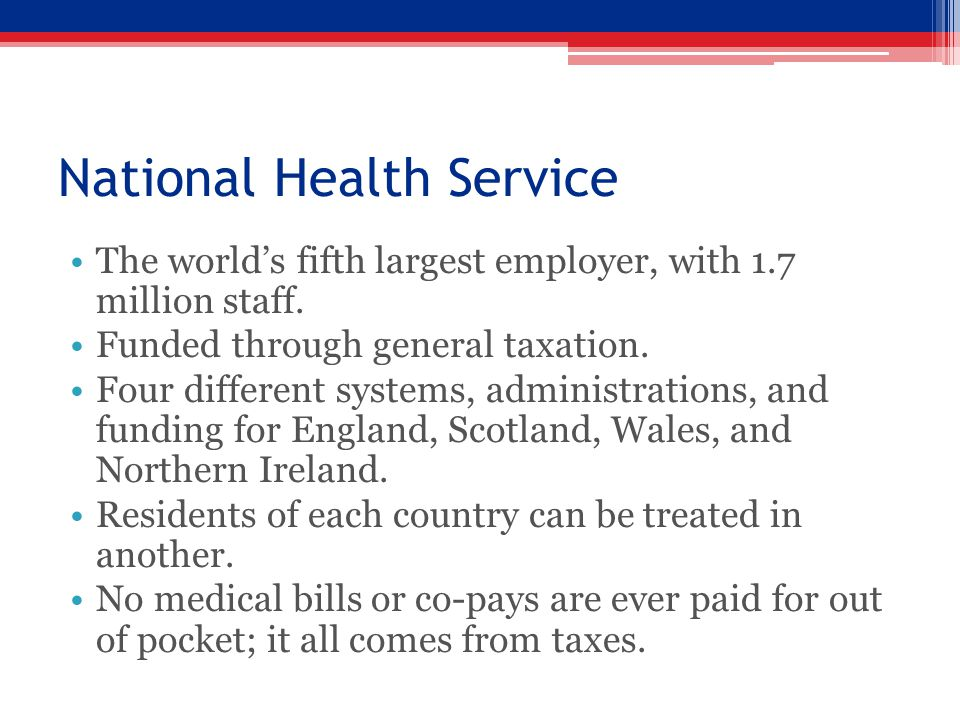 National Health Service The world's fifth largest employer, with 1.7 million staff.