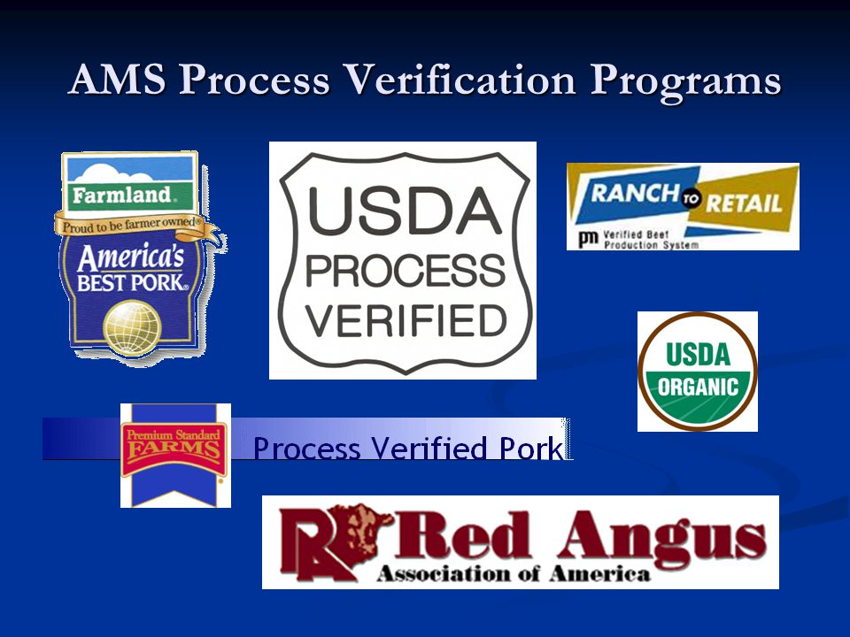 AMS Process Verification Programs