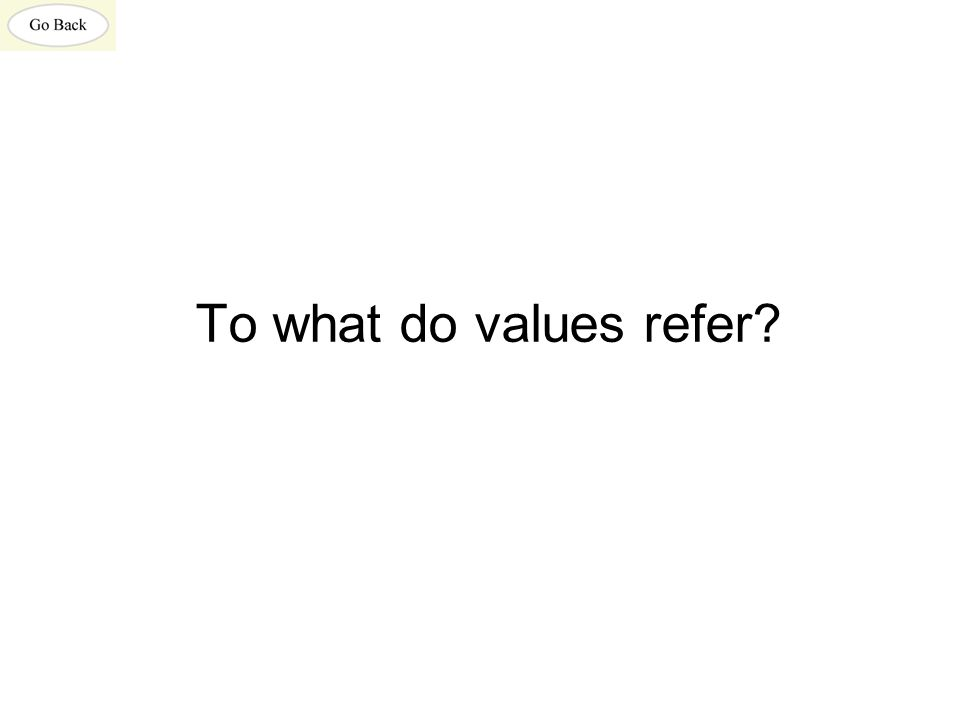 To what do values refer?