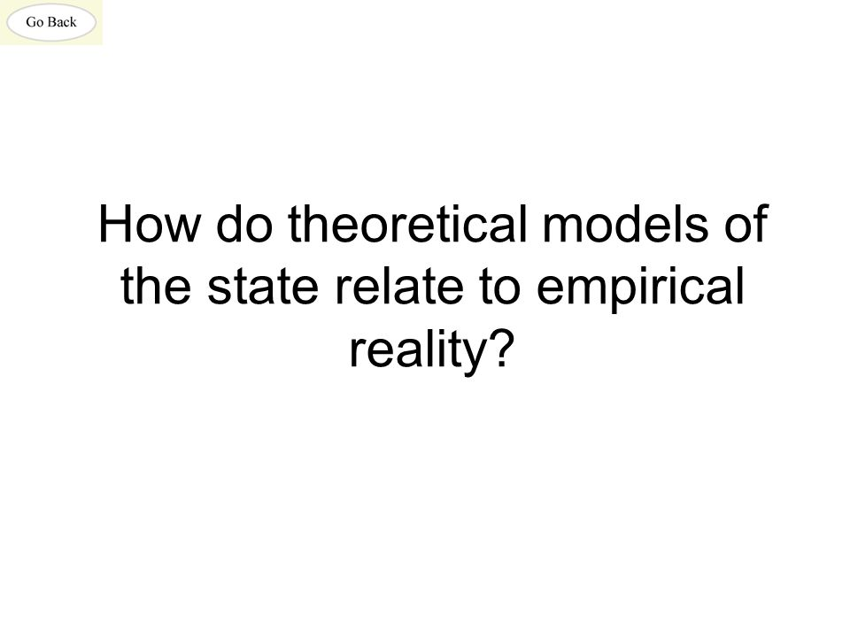 How do theoretical models of the state relate to empirical reality
