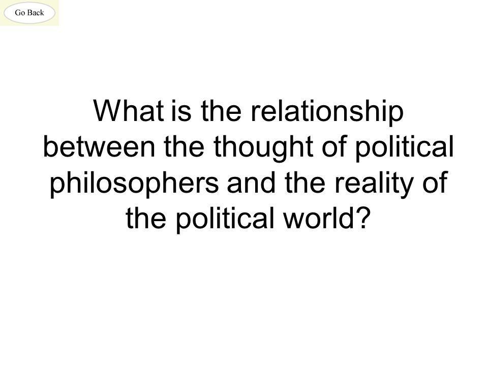 What is the relationship between the thought of political philosophers and the reality of the political world?