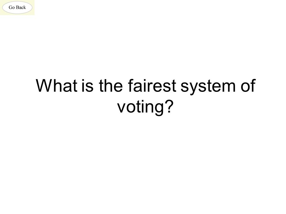 What is the fairest system of voting?