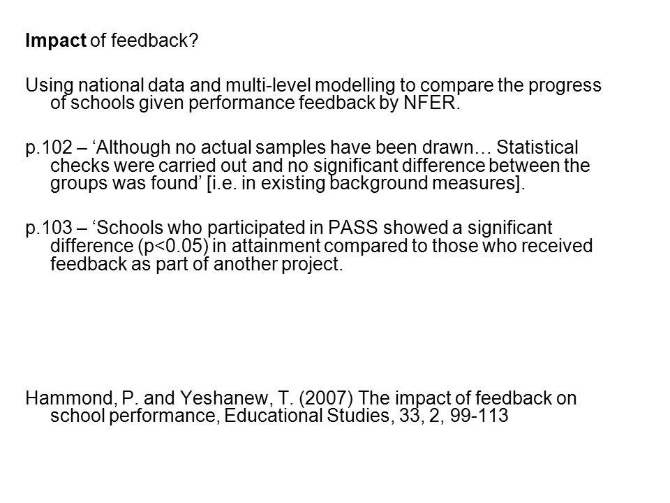 Impact of feedback.