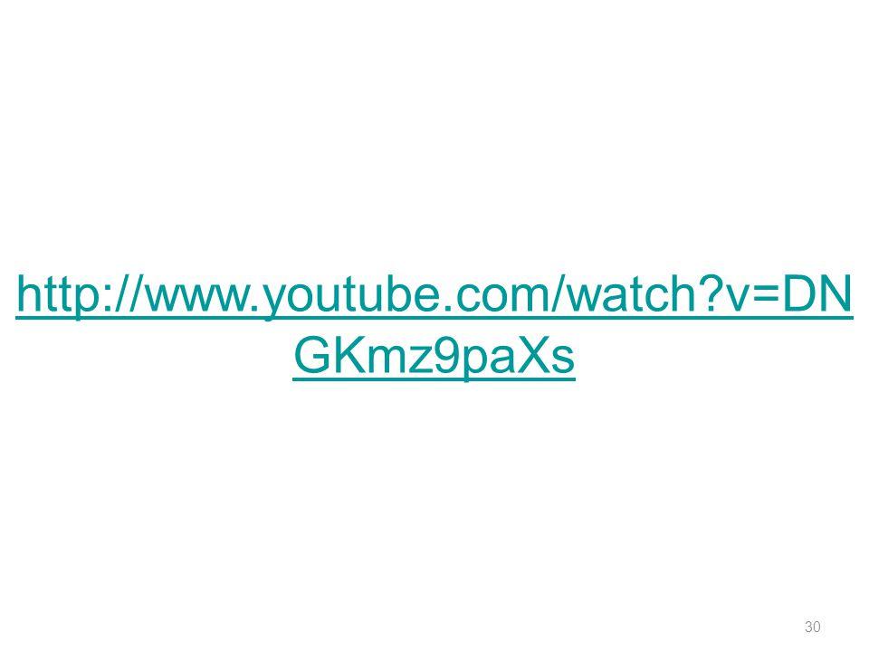 30 http://www.youtube.com/watch?v=DN GKmz9paXs