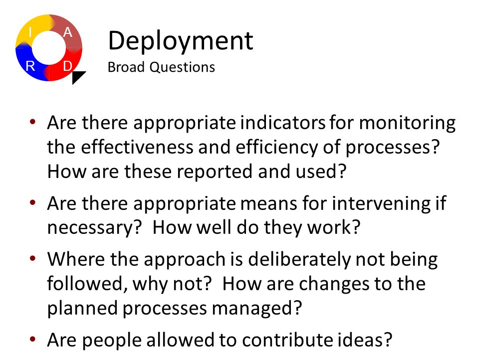 Are there appropriate indicators for monitoring the effectiveness and efficiency of processes? How are these reported and used? Are there appropriate