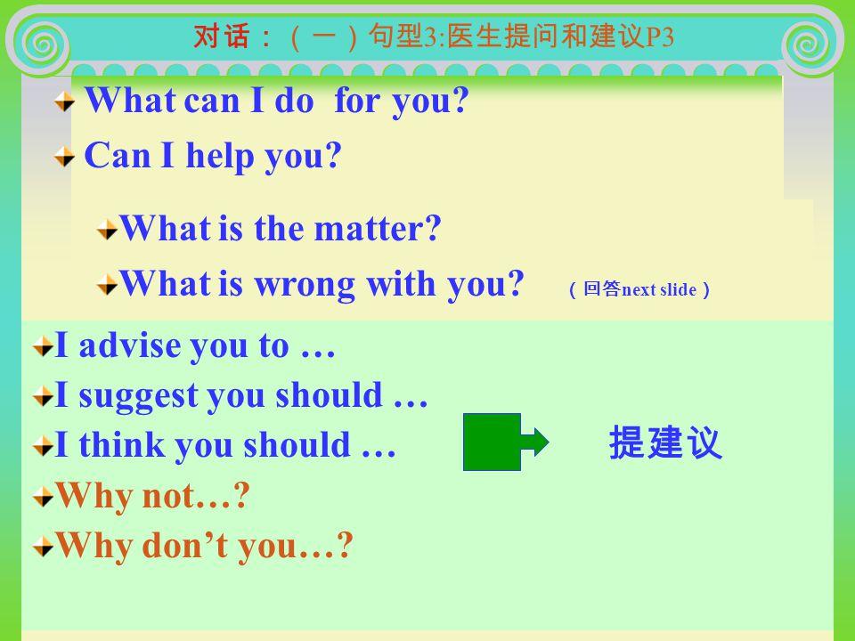 医生的行动 ( 简要引入 ) B:What do doctors do.