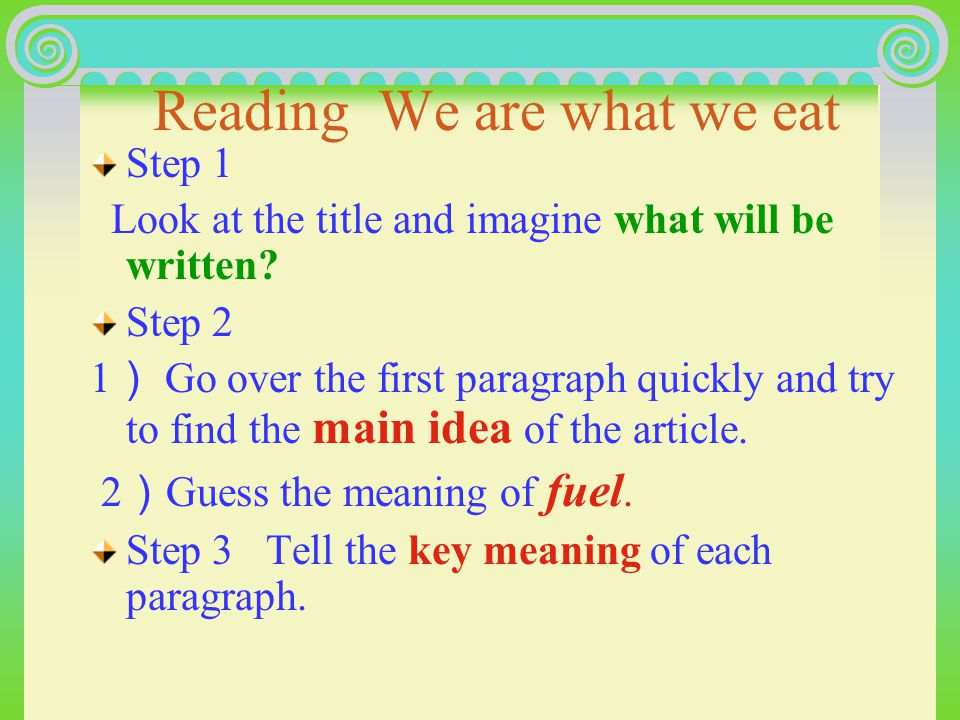 Pre-reading 引入二 Discuss the following questions with your partner.